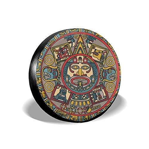 La's DreamHome Mayan Zodiac - Cubierta de repuesto para neumáticos, impermeable, protección UV, para remolques, RV, SUV y muchos vehículos de 17 pulgadas