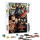 Juguetes Rompecabezas Cómo entrenar a tu dragón 2 Puzzles de póster 500 piezas 20.5X14.5 pulgadas para adultos Juguetes educativos Juego Diy Decoración del hogar