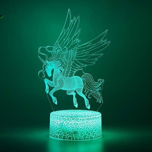 RanDal 7 Ändern Der Farbe 3D Pferd Lampe Kinderzimmer Nachtlicht Led Licht Fernbedienung