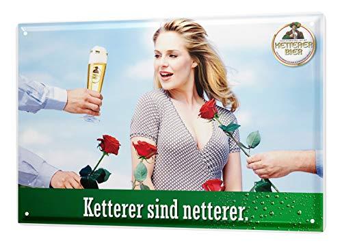 LEotiE SINCE 2004 Blechschild Bier Bar Kneipe Ketterer Nett Romantiker Wand Deko Metall Schild 20X30 cm
