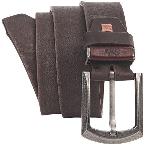 Lindenmann The Art of Belt Mens leather belt/Womens belt, Premium full grain leather belt Unisex, dark brown, Größe/Size:100, Farbe/Color:marron