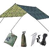 Ruixf 300cm X 300cm Amaca Rain Fly Tenda Tarp Impermeabile Camping Shelter Portatile Leggero Parasole per Campeggio, Picnic