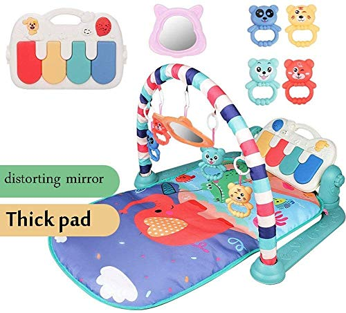 TRYSHA Kids Kinderen Fitness Rack Baby speelgoed Piano Music Deken Play Plastic Intellectuele Ontwikkeling Lay en spelen, zitten en spelen, Activity Toys, Play Mat Activity Gym for Baby Baby leuke rui