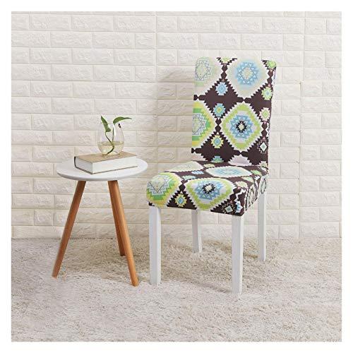 WQAZ Stuhlbezug Stuhlabdeckung Weihnachtsdekorationen 1/2/4/6 stücke Blume gedruckt Geometrische Küchenstuhl deckt Spandex elastische Stretch Polyestermaterial