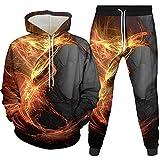 Fresco Colorrful Flame Flame 3D Ragazzi Ragazze Felpe con Cappuccio Harajuku Felpa Divertente Felpa con Cappuccio Casual Streetwear Switch Shirt Autunno Autunno Abbigliamento 301-400-99-YK2JT M