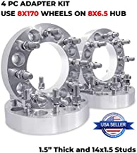 Bill Smith Auto Replacement for (4) Wheel Adapters 1.5 Inch Thickness 8x6.5 to 8x170mm 8 Lug for Ford Chevy