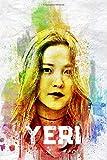 Yeri: Red Velvet Member Color Splatter Art 100 Page 6 x 9' Blank Lined Notebook Kpop ReVeluv Merch Journal Book (Red Velvet Member Color Splatter Art Notebooks)