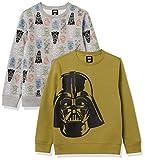 Spotted Zebra Disney Marvel Fleece Crew Fashion-Sweatshirts, 2er-Pack Star Wars Big Vader, 6-7 Jahre