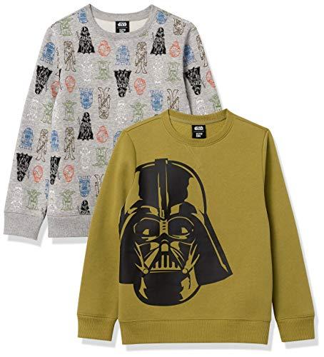 Spotted Zebra Disney Marvel Fleece Crew Fashion-Sweatshirts, 2er-Pack Star Wars Big Vader, 9-10 Jahre