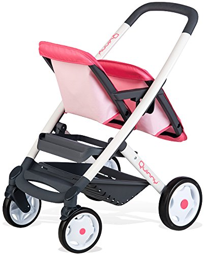 Smoby 253298 Pink Wheel Maxi-COSI & Quinny Twin Pushchair Baby Stroller | Stylish Dolls Buggy with Silent multidirectional Wheels & Ergonomic Handle | Ages 3 Smoby Your little one will absolutely love taking their baby doll for a walk with this super-cute dolls stroller. It's the most stylish way for them to push their dolls around town, and even better, it fits TWO (up to 42cm)dolls! Kids just love copying mum! You will treasure precious memories of leisurely park walks with your little one. The ergonomic handle is comfortable for kids. And the silent wheels and smooth multi-functional movement and steering make your strolls a pleasure! Your heart will melt watching your little one nurture and care for their 'babies' as they lovingly place them in this stylish stroller. Pushchairs are a brilliant way to improve leg strength and motor skills as they enjoying pushing their babies around. 4