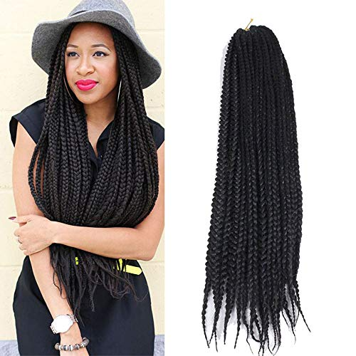 Eunice 6 pièce Deal Boîte tresses Crochet Cheveux 61 cm Mambo Twist Tresse Cheveux 20 strands/Lot Medium Box tresses Crochet Extensions