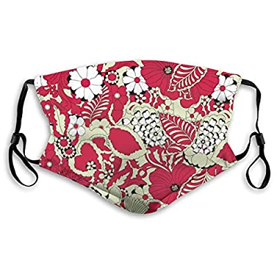 Hotbz Textile Floral Printed Sleep Eye Masks Blackout Adjustable Head Strap Night Blindfold for Women Men Night Sleeping, Travel, Nap M