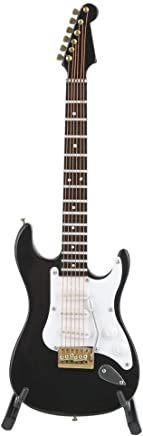 Mini Guitarra Clásica Modelo de Instrumento Musical de Madera Adornos para Guitarra Eléctrica Artesanías de Madera