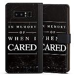 DeinDesign Cover kompatibel mit Samsung Galaxy Note 8 Duos Tasche Leder Flip Hülle Hülle Saying Spruch Phrase