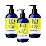 EO Botanical Liquid Hand Soap, Lemon and Eucalyptus, 12 Ounce (Pack of 1)