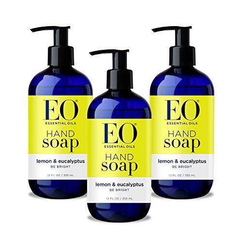 EO Botanical Liquid Hand Soap, Lemon and Eucalyptus, 12 Ounce (Pack of 3)