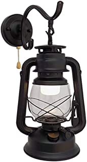 FLHAINVER European Style Lantern - Wall lamp - Vintage Kerosene lamp - Courtyard Farmhouse Home Mirror Headlights