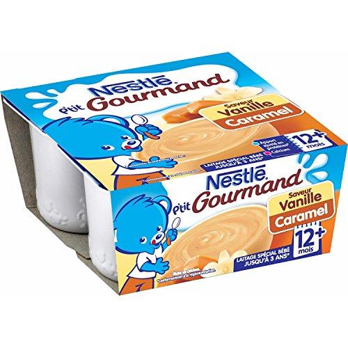 Nestlé Bébé P'tit Gourmand Saveur Vanille Caramel Laitage dès 12 mois 4 x 100g - Lot de 6
