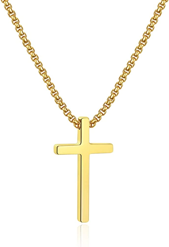 Ursteel Cross Necklace Free Shipping New for Men Silver Stee Ranking TOP11 Black Gold Stainless
