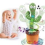 Cactus Bailarín,Cactus Dancing Toy,Divertido Canto y Baile de Cactus,Cactus Que Canta y Baila,Juguete de Peluche de Cactus para Niños,Cactus de Peluche,Juguete Divertido
