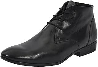 Salt N Pepper Koop Black Real Leather Men Boots