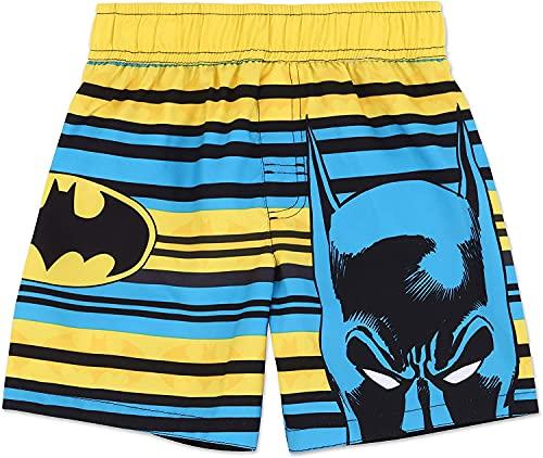 WFQTT DC Batman - Bañador para niños pequeños y jóvenes, de secado rápido, con forro de malla (A3,120)