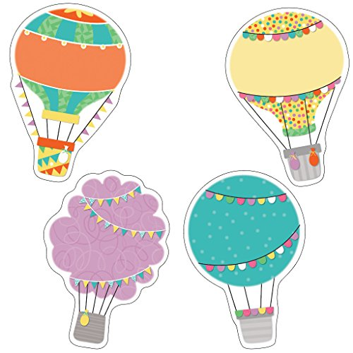 Carson Dellosa – Up and Away Hot Air Balloons Colorful Cut-Outs, Classroom Décor, 36 Pieces