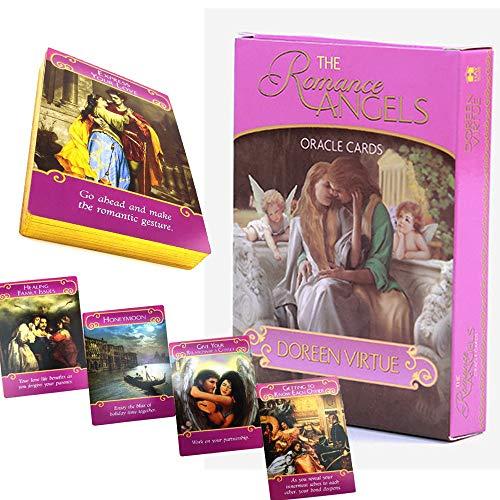 Carte Ange Romantique mystérieuse, Guide de l'amour/prédiction de Tarot du Destin, 44 Cartes de Tarot Ange Romantique, Version dorée Rare, Carte de Tarot Jouet pour Enfants, Anglais