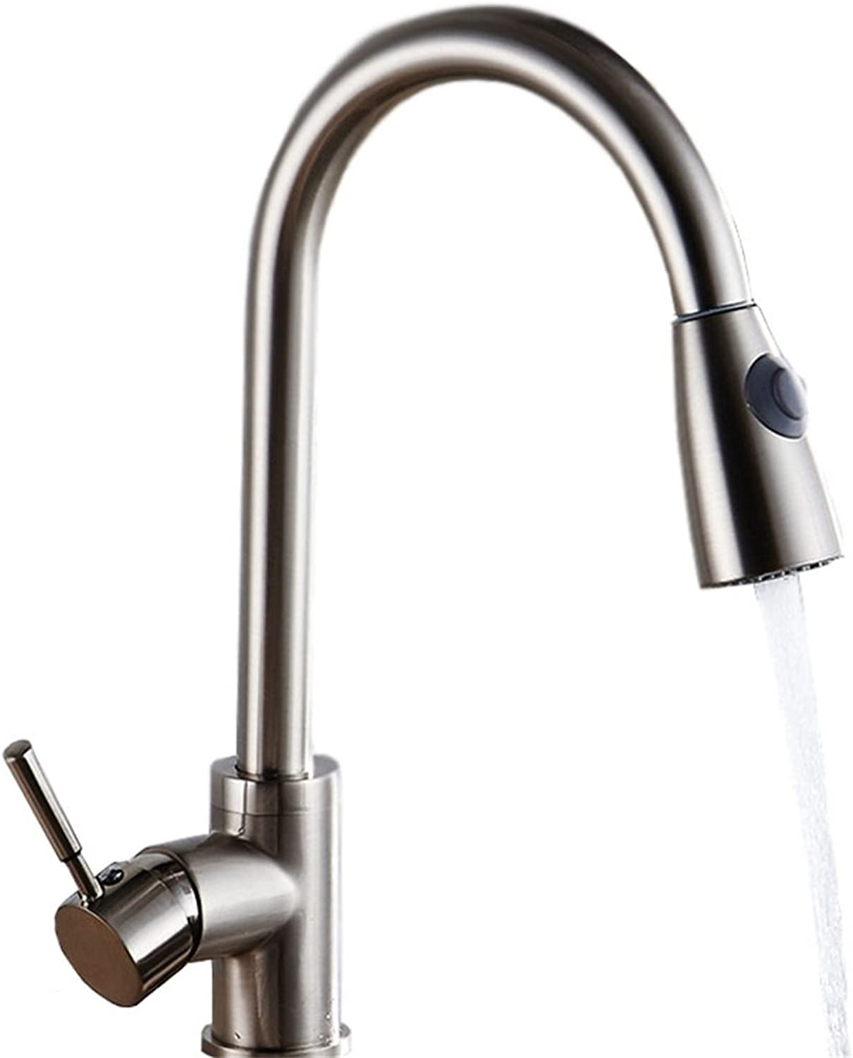 LXYU Sus304 Telescopic Double Temperature Pull-Type Sink Faucet Kitchen Hot And Cold Water Faucet Universal redating Sink Faucet