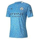 PUMA Camiseta del Manchester City de la temporada 20/21 (3XL, azul claro/peacoat)