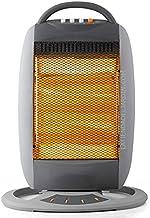 Suinga Estufa halógena oscilante. Tres niveles de potencia: 400W-800W-1200W. Totalmente silencioso. Emisión instantánea de calor. Tres barras halógenas.