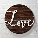 The Lakeside Collection Love Wall Plaque with Farmhouse Embellishments - Sentiment Word Art Sign