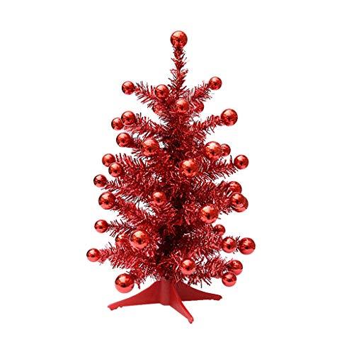 HJHJ Árbol de Navidad Decorado 45cm/16 árbol De Navidad De Mesa Árbol De Pino De Navidad Artificial Mini Árbol...