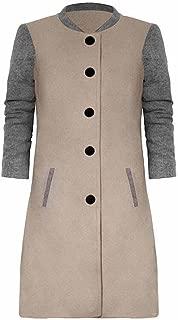 iYBUIA Fall Womens Print Casual Patchwork Long Sleeve Cardigan Jacket Lady Coat Jumper Knitwear