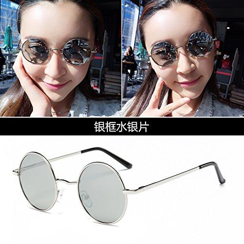 LLZTYJ Zonnebril, wind/licht/lees/verjaardag/geschenk/decoratie/gepolariseerde zonnebril/uv/zonnebril/glazen met rond frame voor mannen en vrouwen