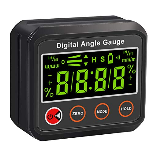 Neoteck Digital Level Box Winkelmesser Wasserdicht IP42 LCD Wasserwaage tragbar Neigungsmesser mit magnetischer V-Nut Basis, Alarmanzeige (Batterie enthalten)