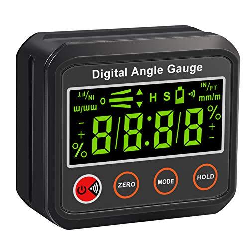Neoteck Bevel Box Livello Digitale con Base Magnetica Angle Finder Digitale LCD Retroilluminazione Goniometro Inclinometro con Funzione di Allarme per Costruzione Ingegneria Lavoro Legno