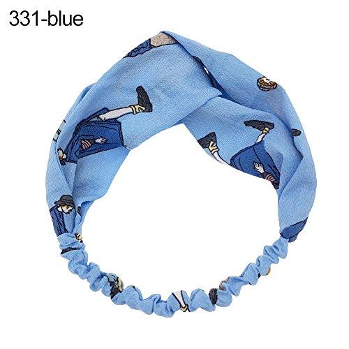 Sanwood – à rayures Dessin animé Bandeau élastique Bandeau Head Wrap Femme Fille Accessoires Cheveux Bandeau Headwear pour photographies, déguisement, fête