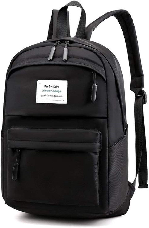 KUQIQI Largecapacity Student Bag, Casual Waterproof Nylon Backpack, 30  17  45cm, Black, Pink Multifunction