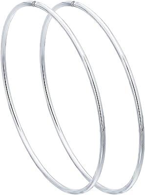Orecchini congo lisci di diametro medio in argento 925