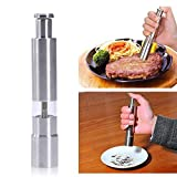 AADYA Hot Sale Stainless Steel Thumb Push Salt Pepper Grinder Spice Sauce Mill