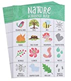 Nature Themed Scavenger Hunt Game (5 x 7 Inches, 50-Sheets)