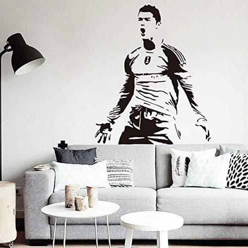 CR7 Cristiano Ronaldo Wandtattoo Zitate Wandaufkleber Fußball Poster Sport Fußball Spieler Kinder Vinyl Aufkleber Gym Decor