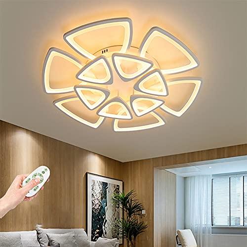 Lámpara de Techo LED Regulable Plafon de techo con mando a distancia Diseño creativo flor moderna Luz de Techo para Salón Dormitorio Cocina Iluminación de Techo 300K~6500K