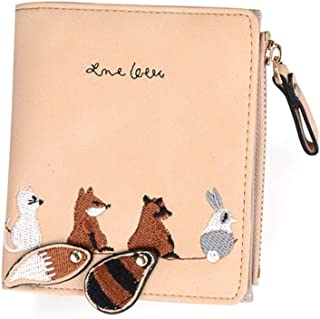NVSHIBAOBAO Trendy Cute Little Squirrel Wallet (Color : Orange)