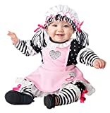 California Costumes Girls Baby Doll-Infant Costume, Black/Pink/Whit, 6MO-12MO