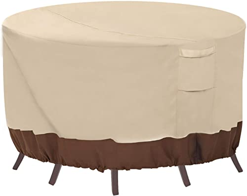 Vailge Round Patio Furniture Covers, 100% Waterproof Outdoor Table Chair Set Covers, Anti-Fading Cover for Outdoor Fu...