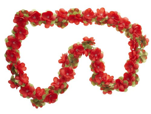 Fahrradgirlande Fahrraddekoration Blumengirlande rot 120 cm lang