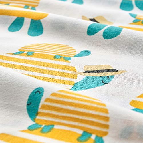 IKEA RÖRANDE Bettbezug / Kissenbezug für Kinderbett 110x125/35x55 cm Schildkröte gelb