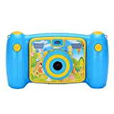 Ocamo Cute Cartoon Kids Action Camera Digital Video HD Camcorder DV blue